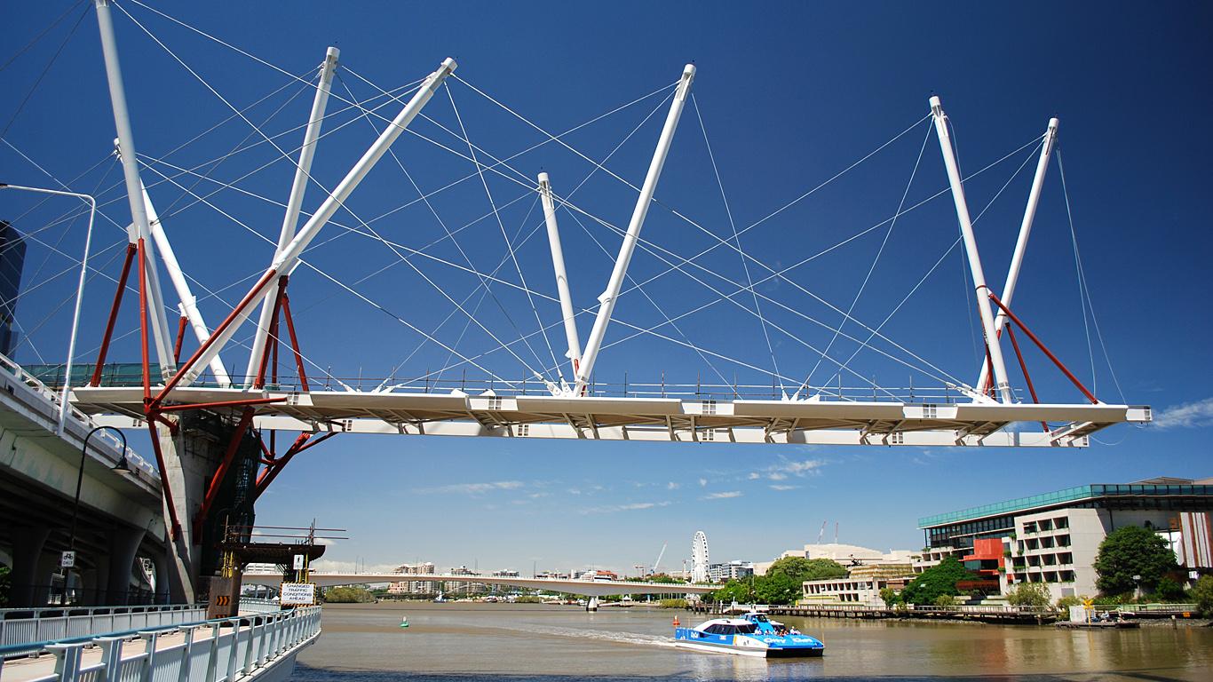 Стройка моста Курилпа