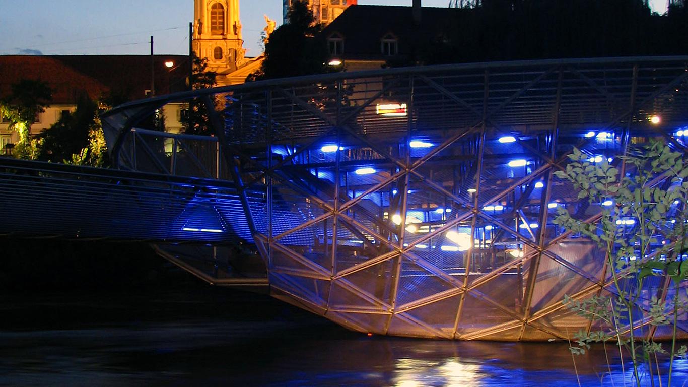 Подсветка Мост-ресторан Айола