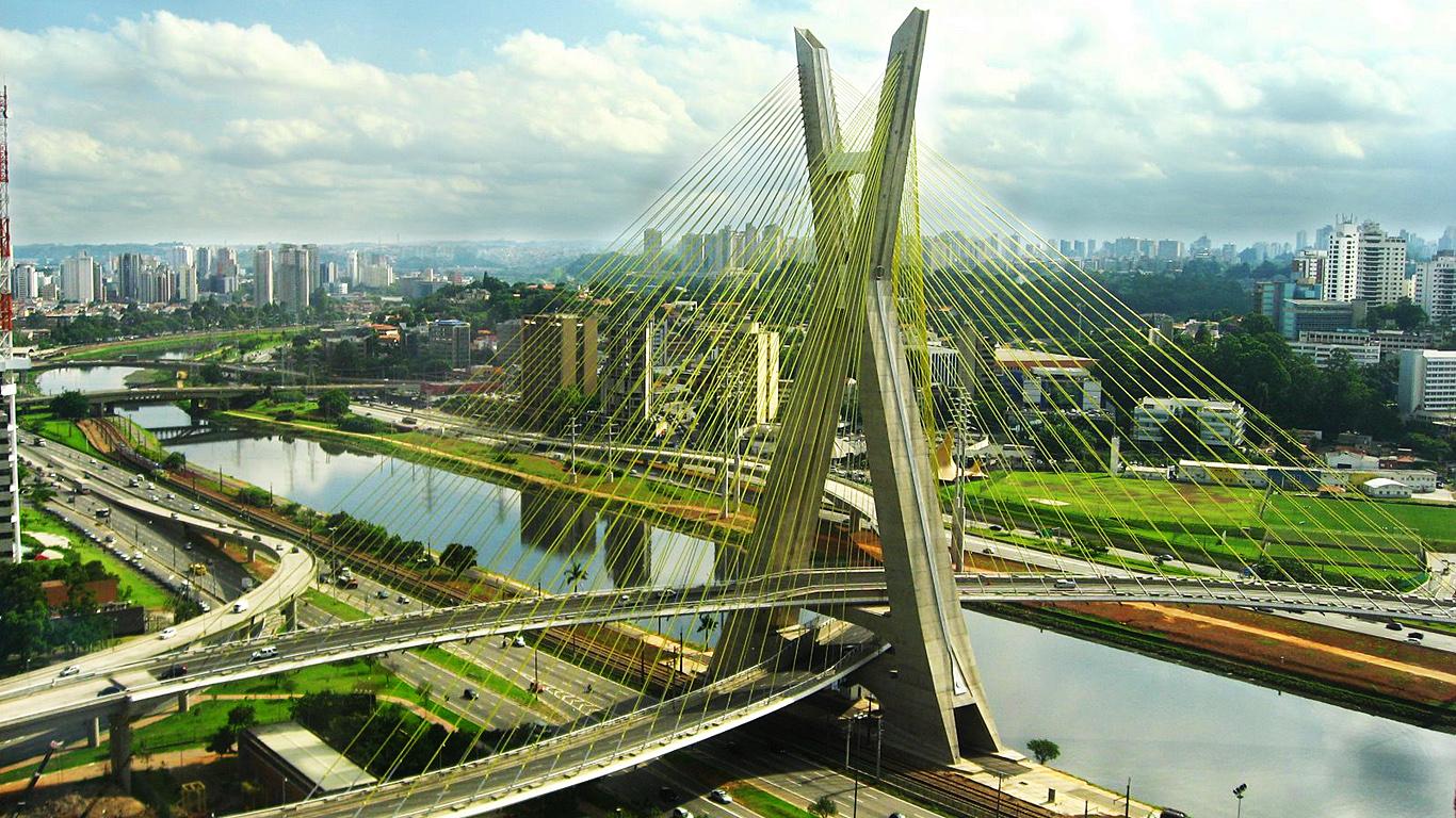 Мост Октавио Фриас де Оливейра днем