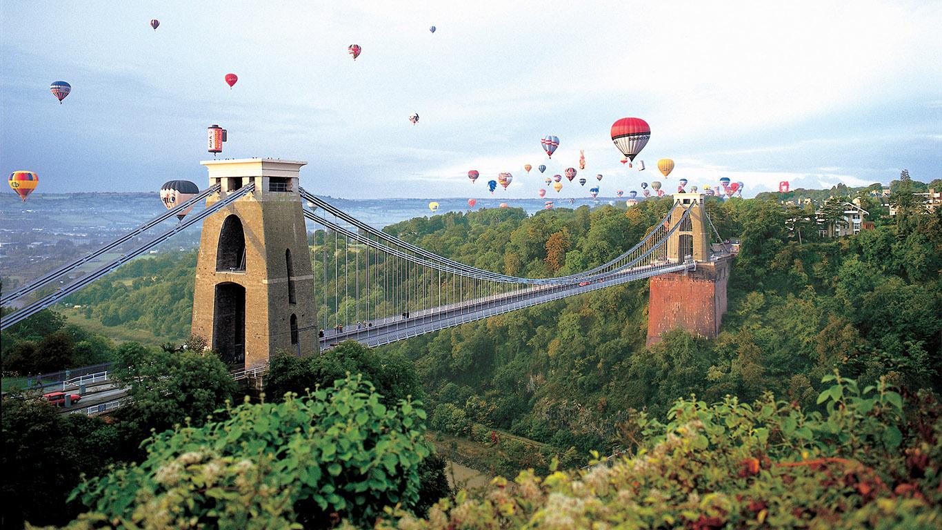 Пейзаж Клифтонский подвесной мост