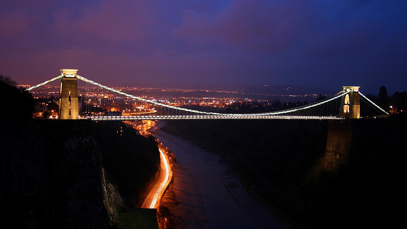 Подсветка Клифтонский подвесной мост