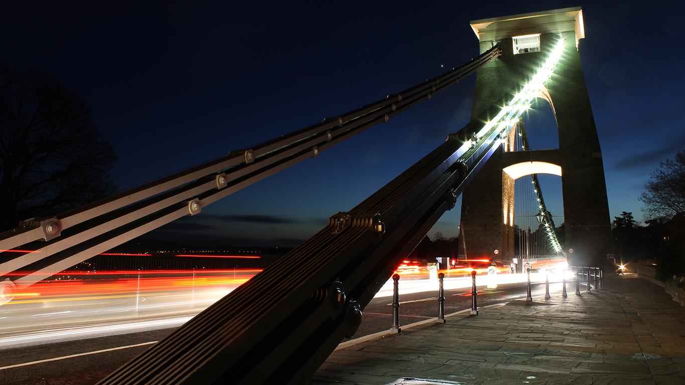 Вход на подвесной мост