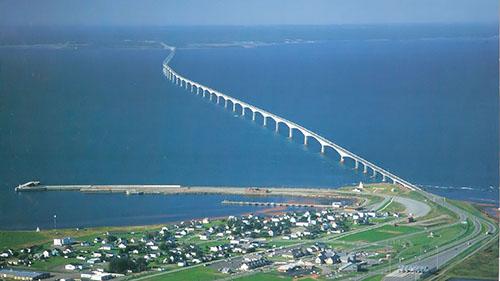 Мост Конфедерации с высоты птичьего полета