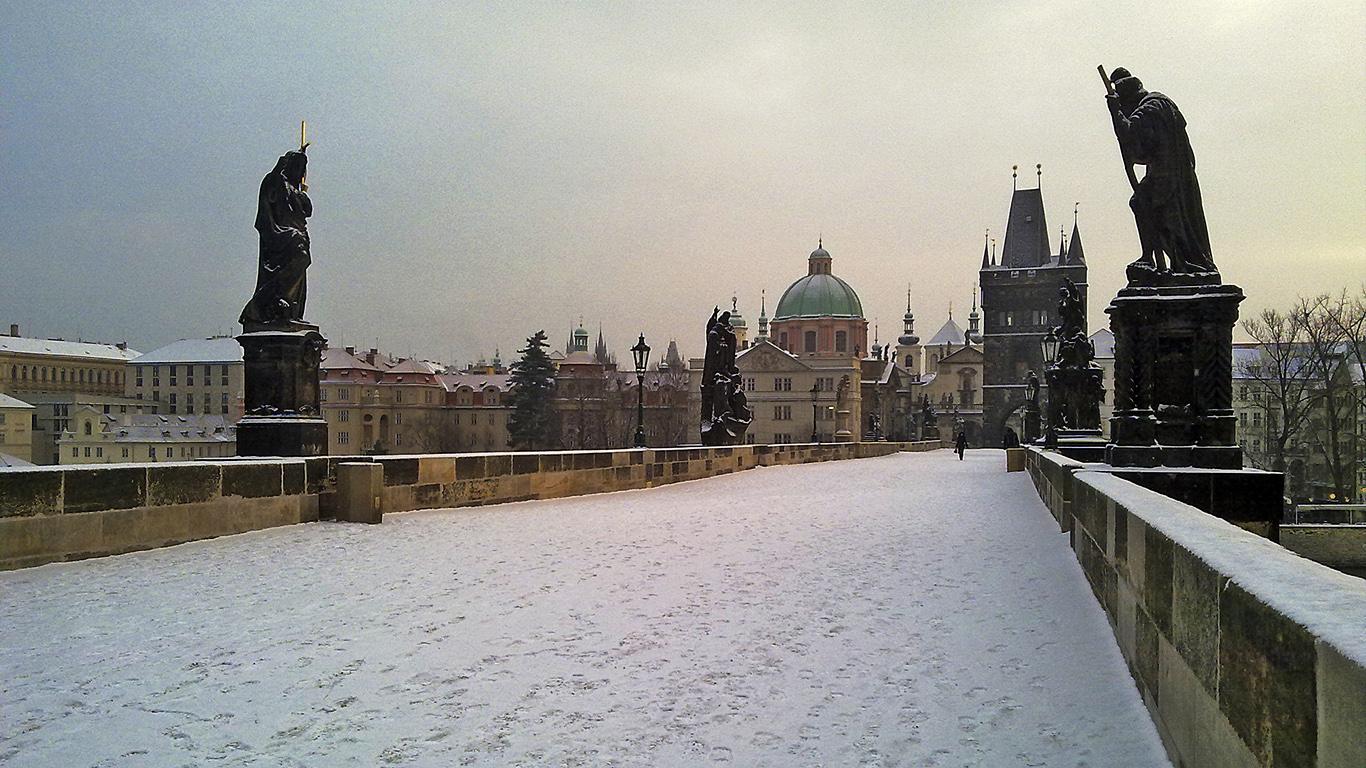 Зима.Карлов мост