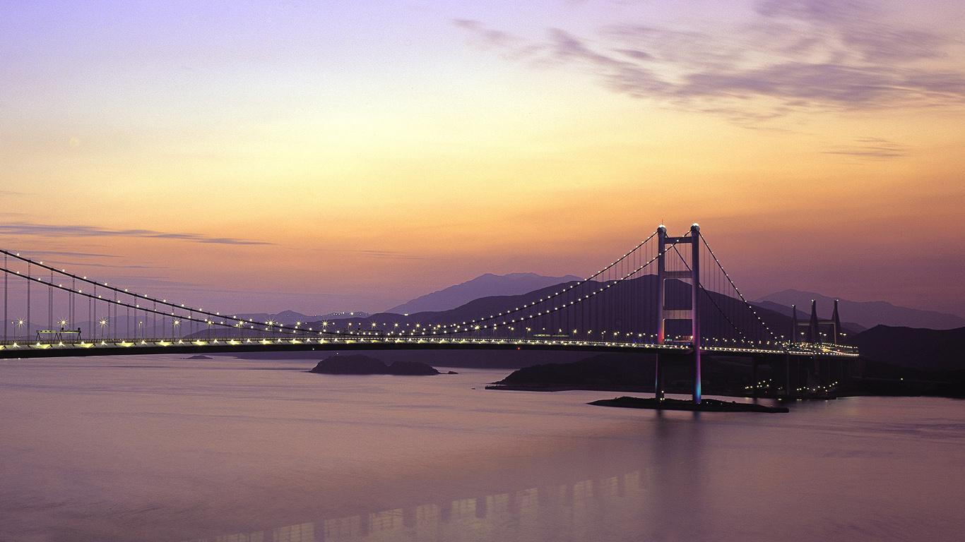 Мост Цинма на закате