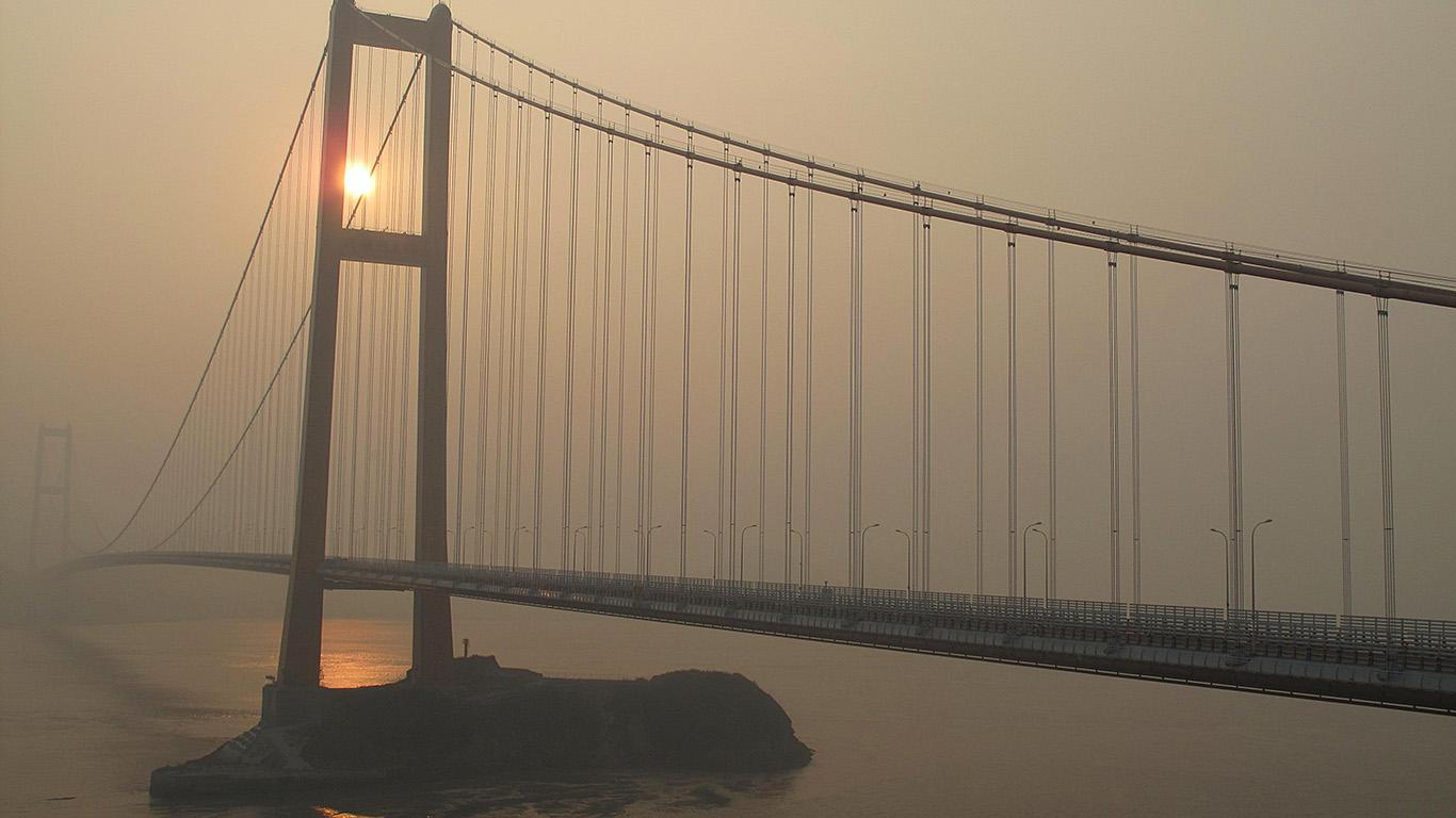 Мост Cихоумэнь в тумане
