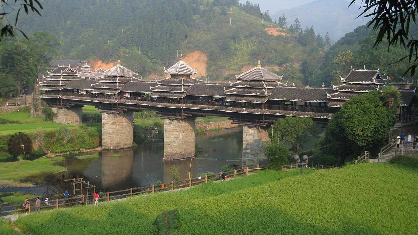 Мост Юнцзи издалека