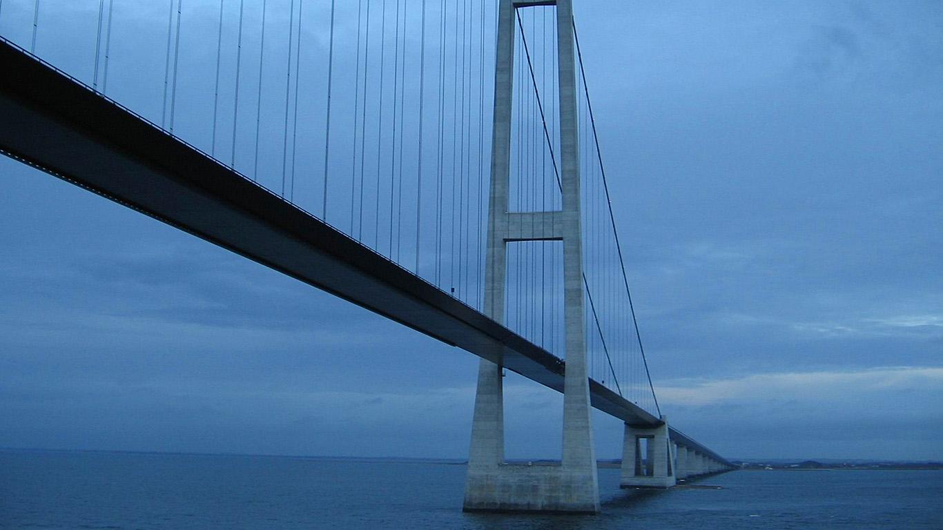 Арка моста Большой Бельт