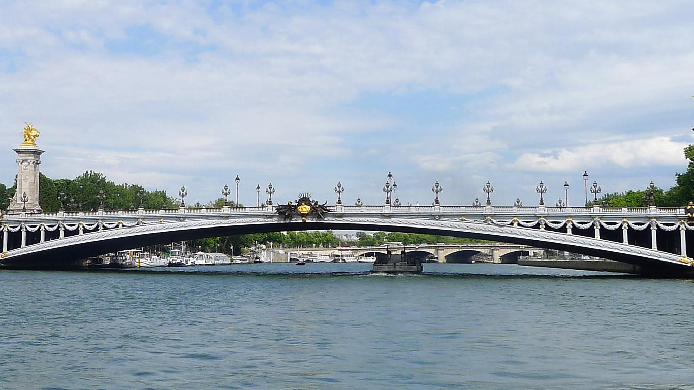 Вид с реки Мост Александра III