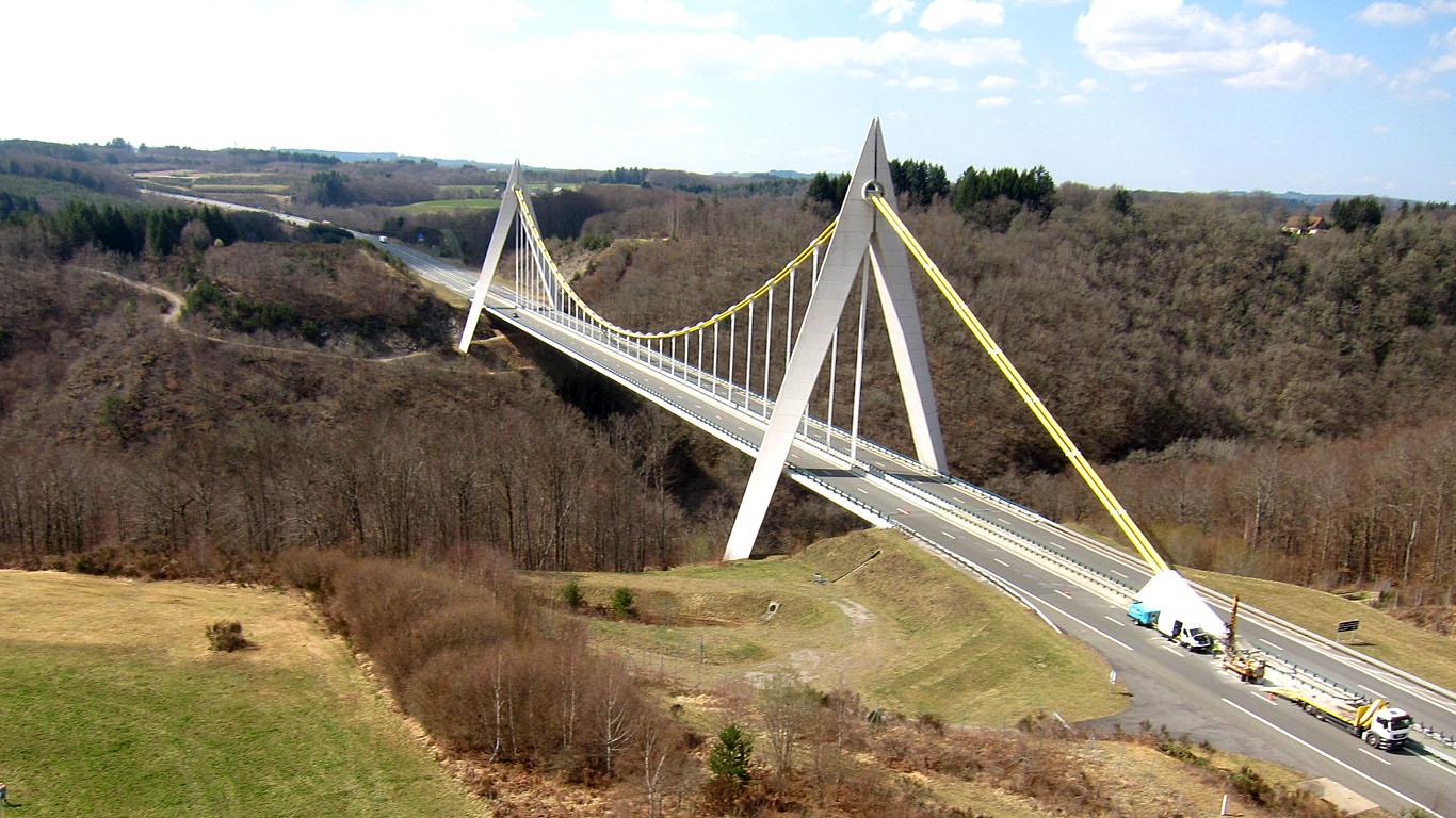 Мост Шаванон с высоты