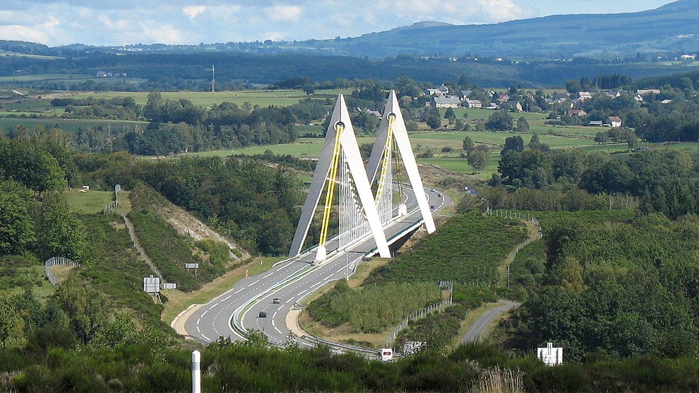 Мост Шаванон сверху