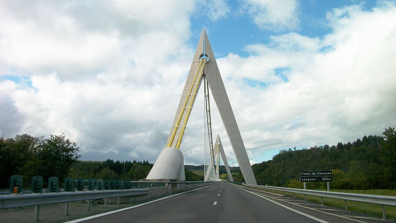 Мост Шаванон вблизи