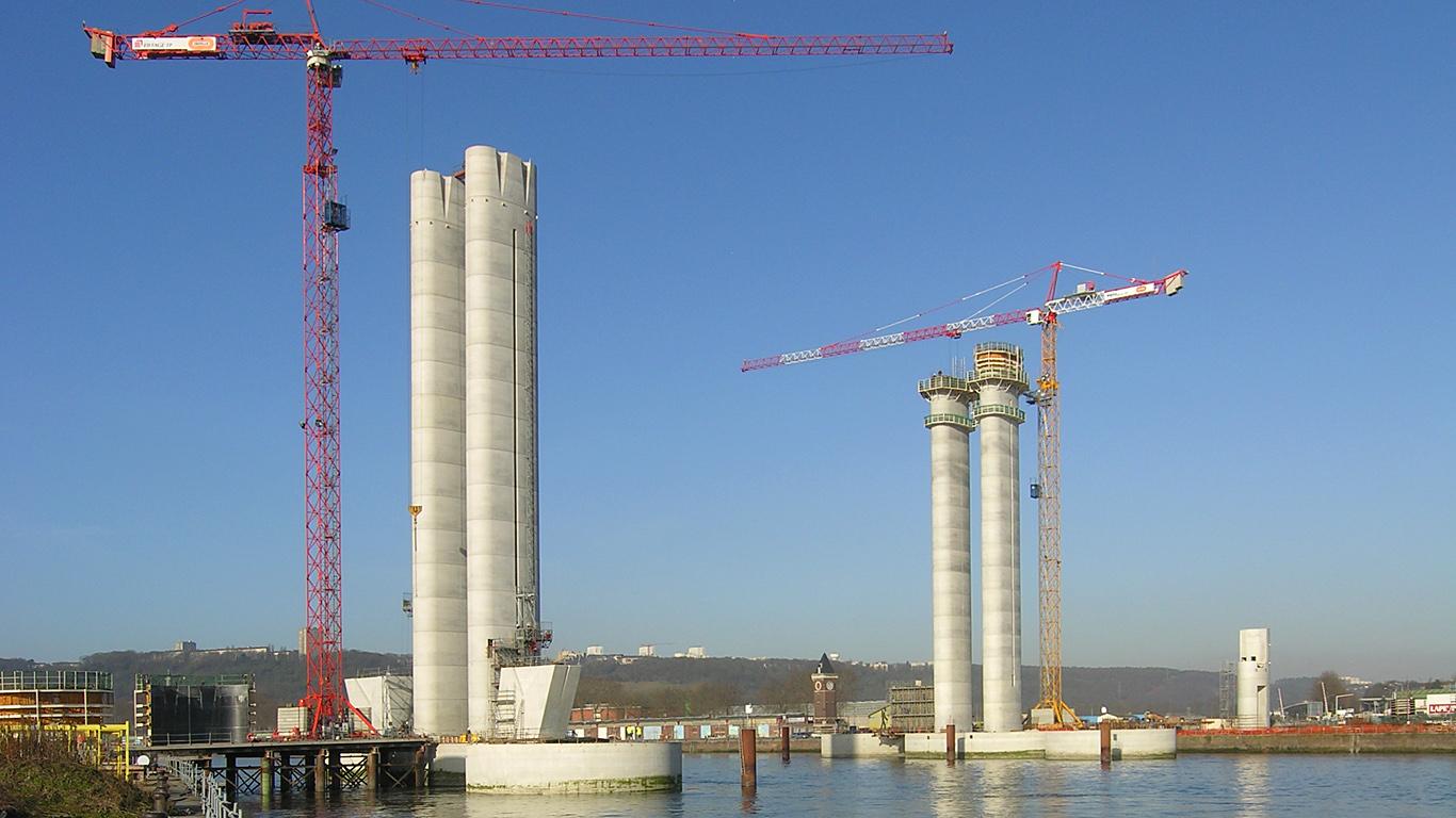 Строительство моста Гюстава Флобера