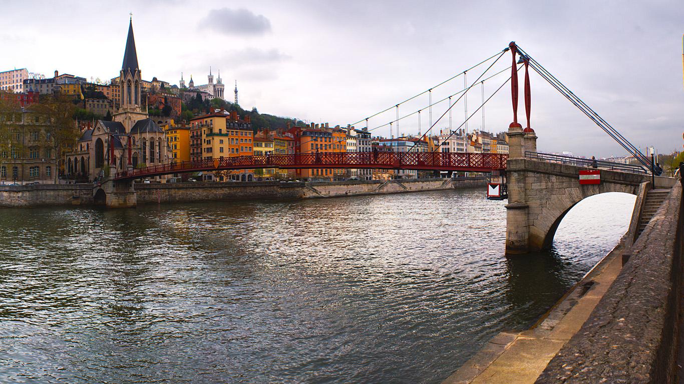 Вид с берега.Мост святого Георгия