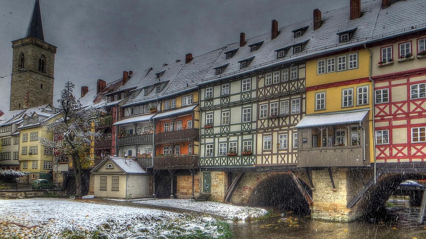 Мост Кремербрюке зимой