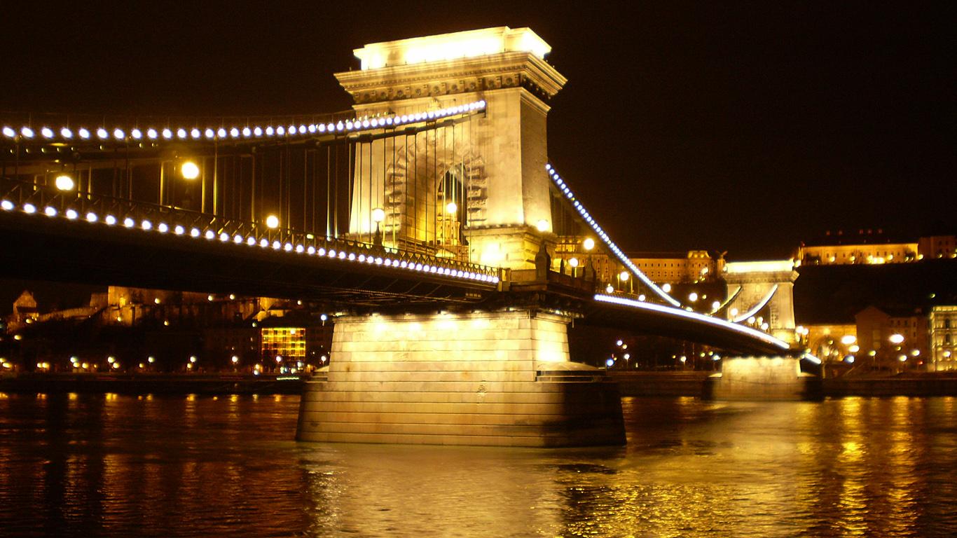 Подсветка Цепной мост Сечени
