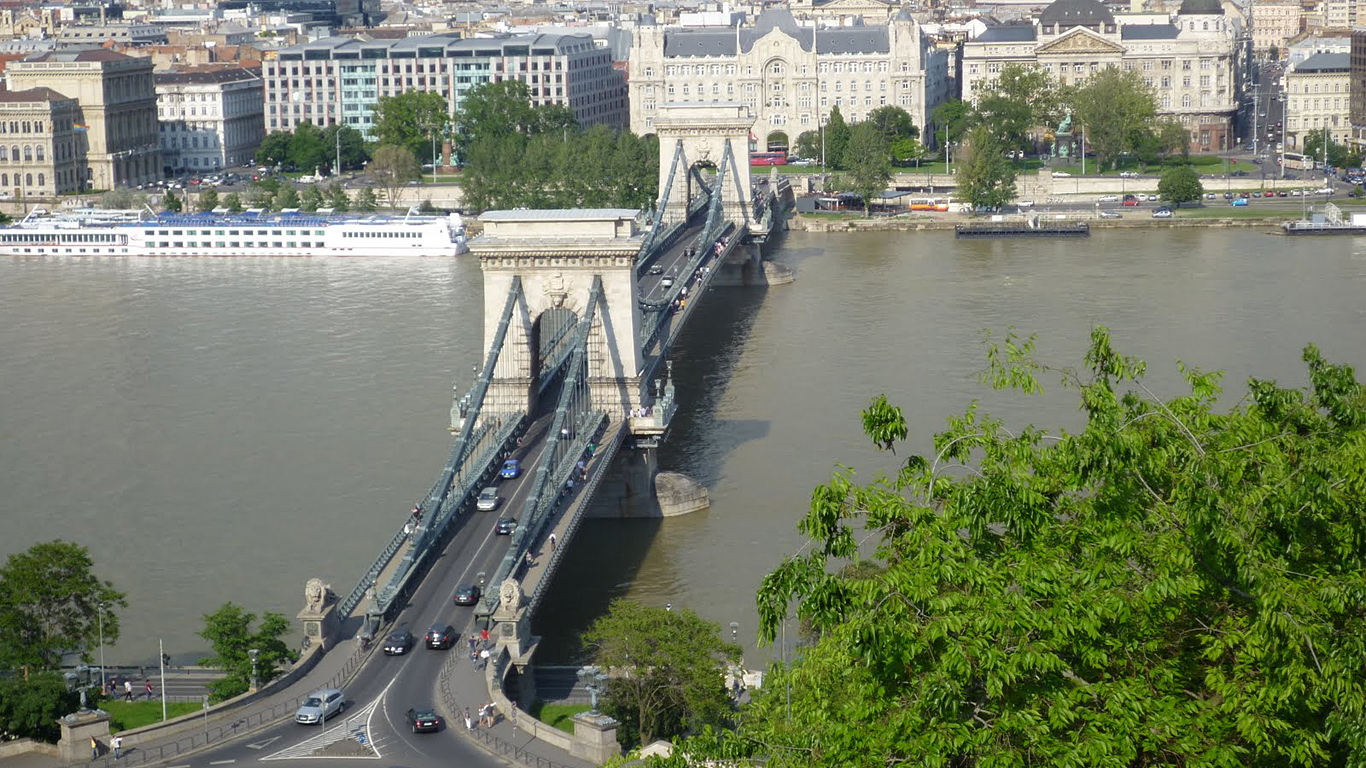 Цепной мост Сечени с высоты