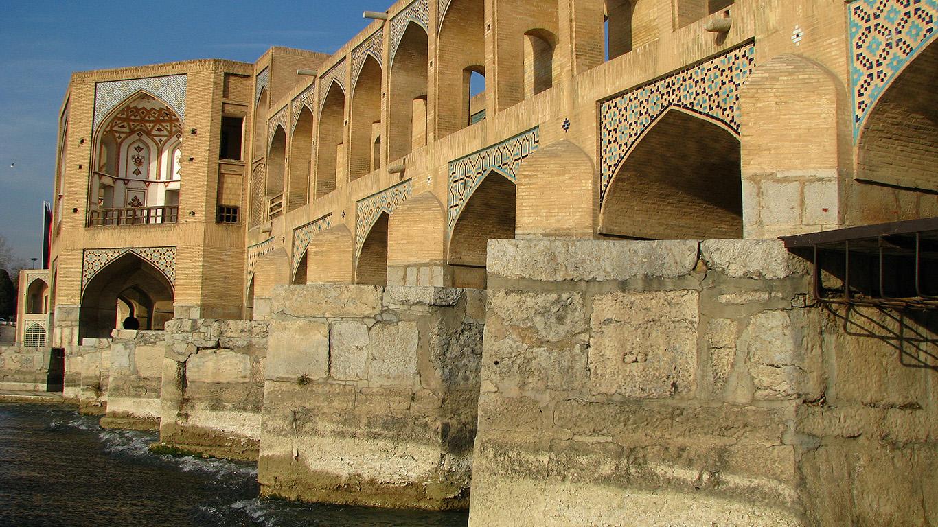 Мост Хаджу вблизи