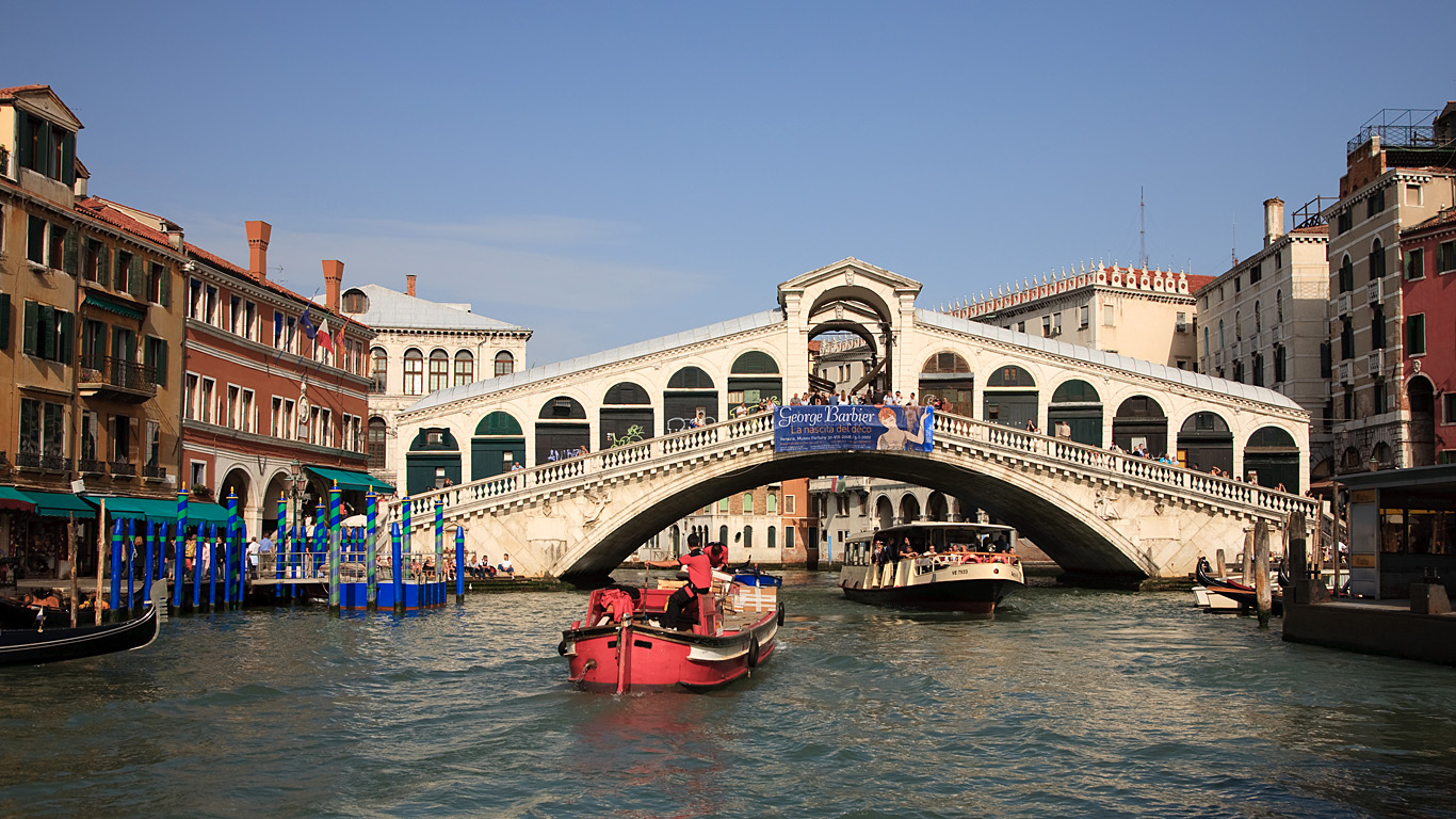 Мост Риальто с воды
