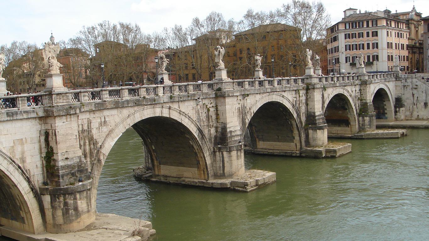 Арки моста Святого Ангела
