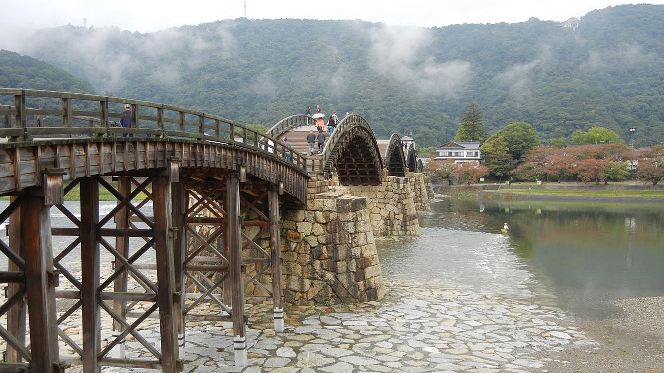 Вход на мост Кинтай