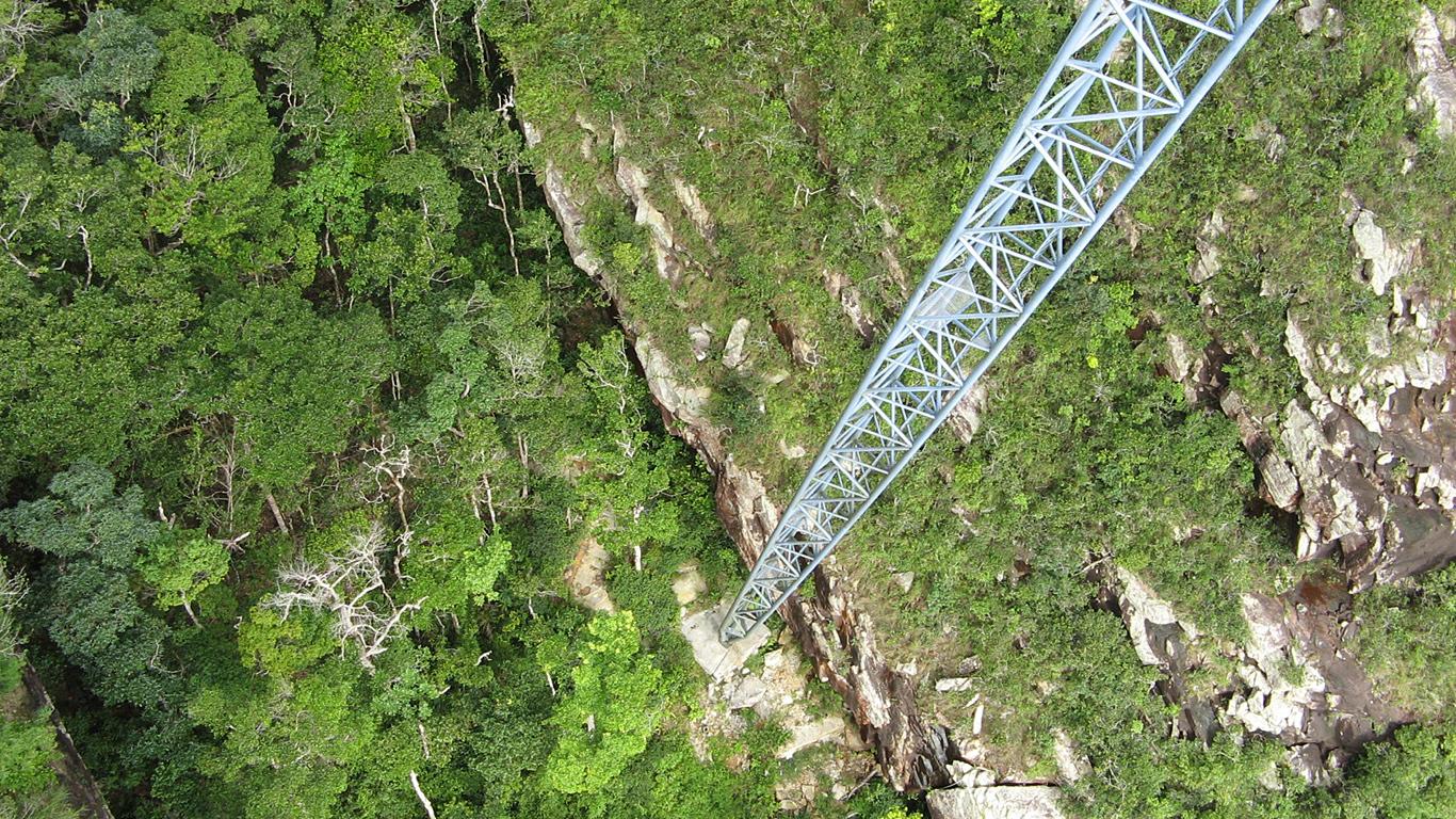 Вид с моста.Небесный мост Лангкави