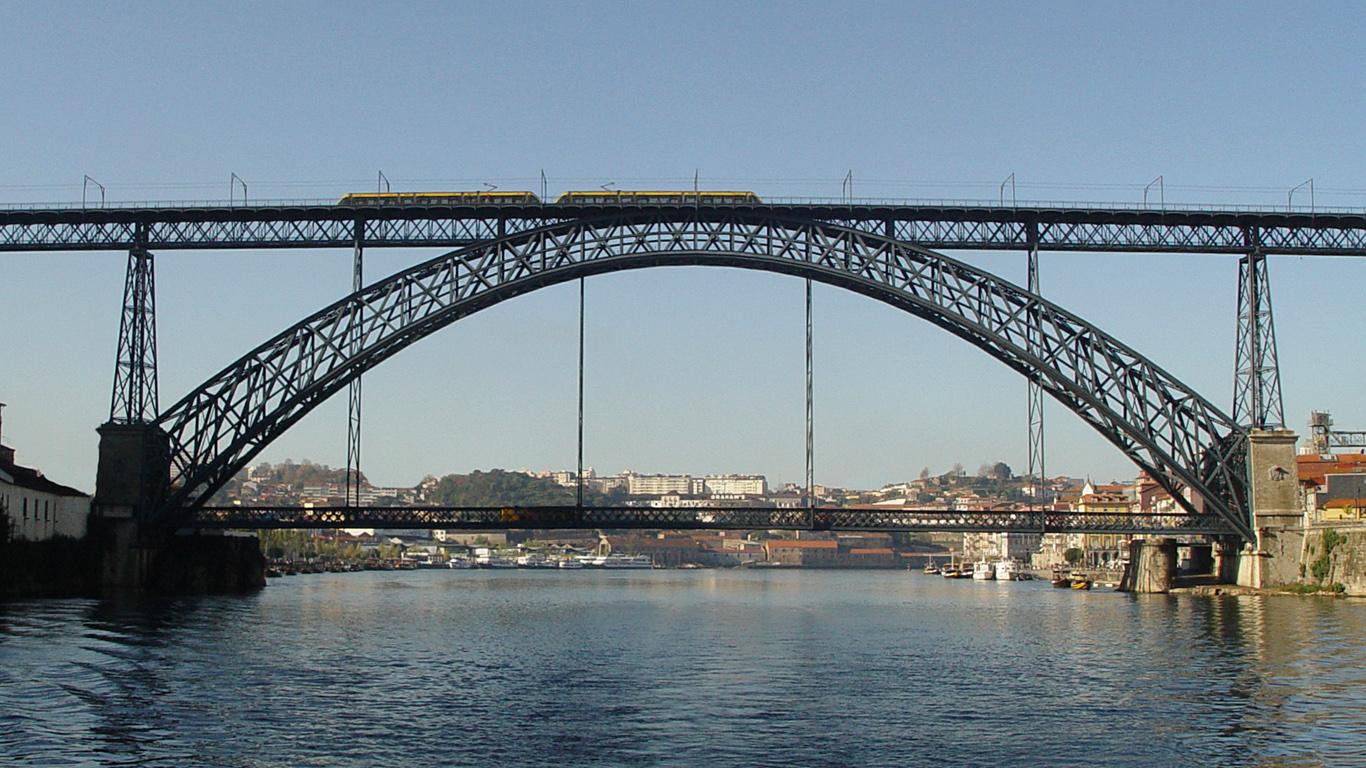 Вид с воды.Мост Понте-де-Дон-Луиш