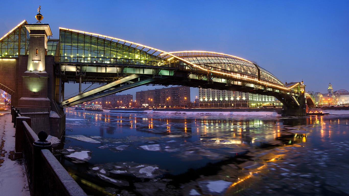 Мост Богдана Хмельницкого вечером
