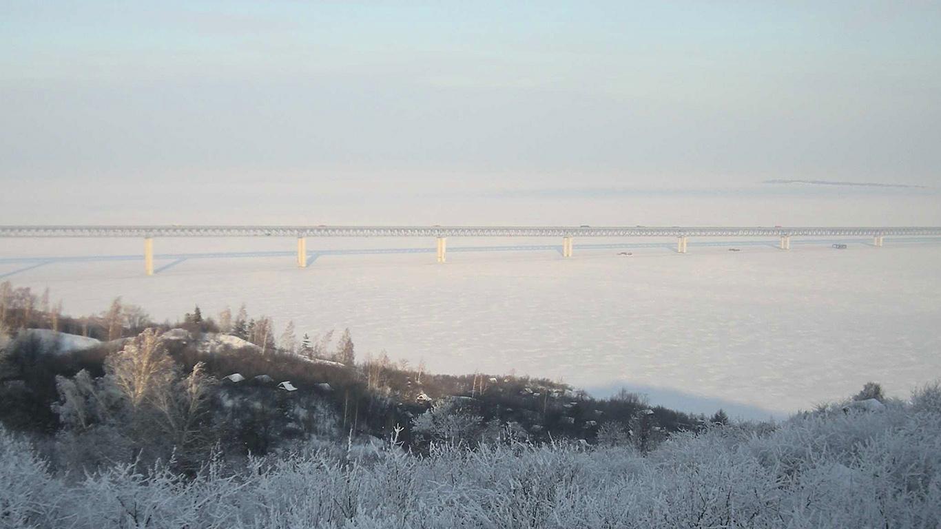 Президентский мост зимой