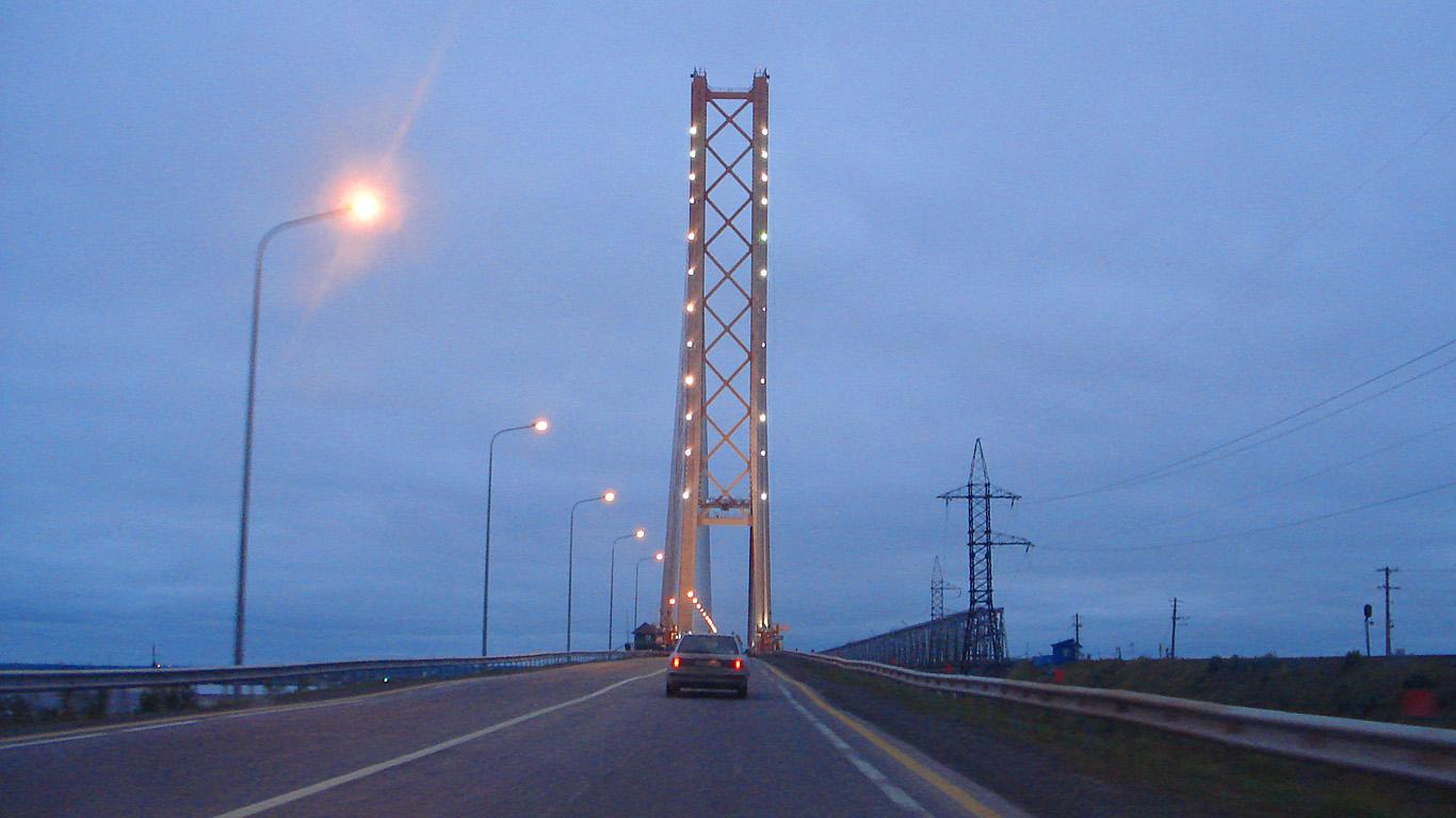 Въезд.Сургутский мост