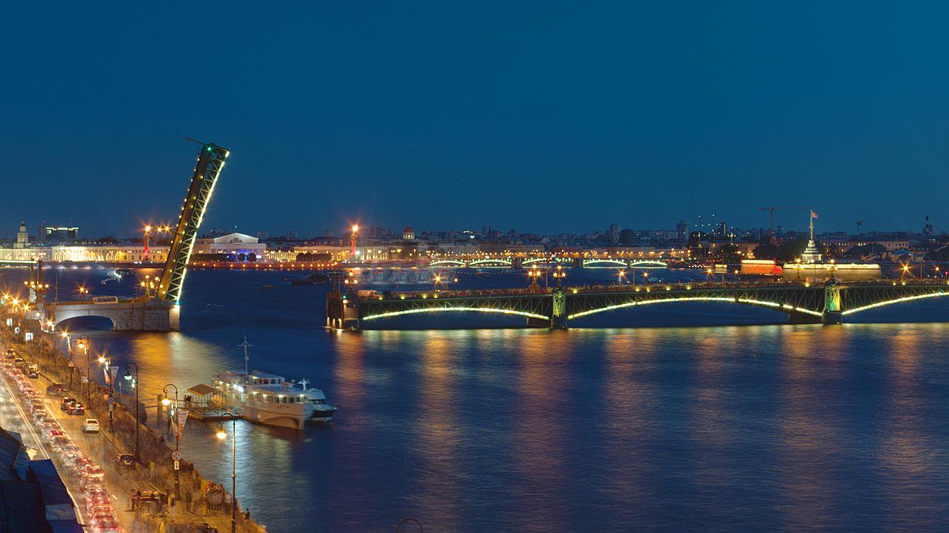 Подсветка.Троицкий мост