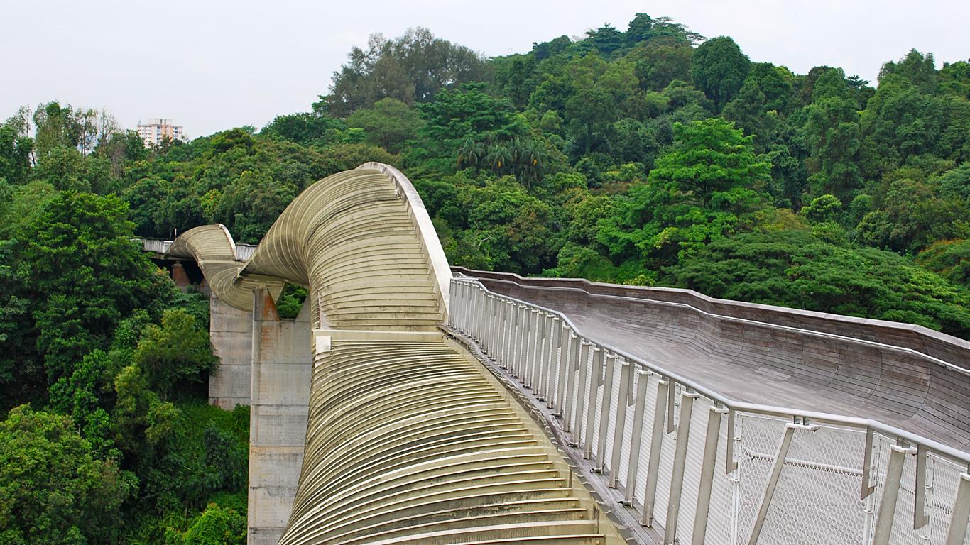 Мост Волны Хендерсона летом