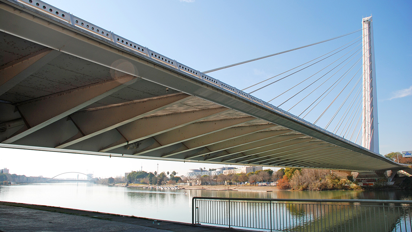 Вид снизу.Мост Аламильо