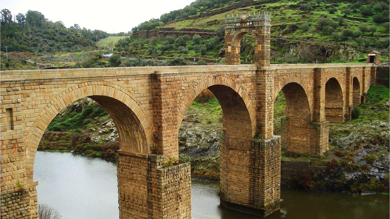 Пейзаж.Алькантарский мост