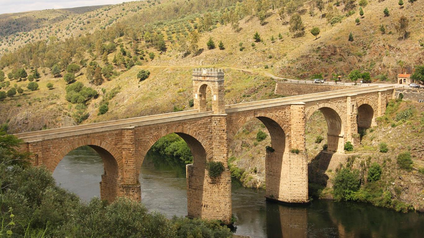 Алькантарский мост сверху