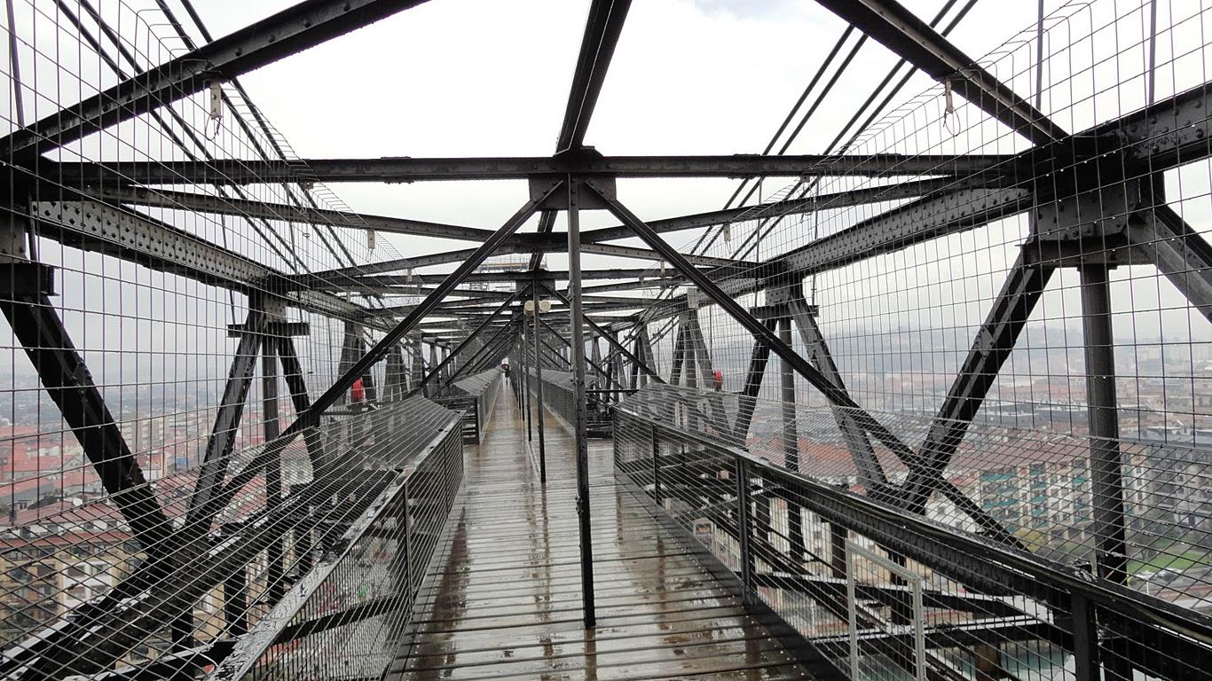 Вид на Бискайский мост сверху