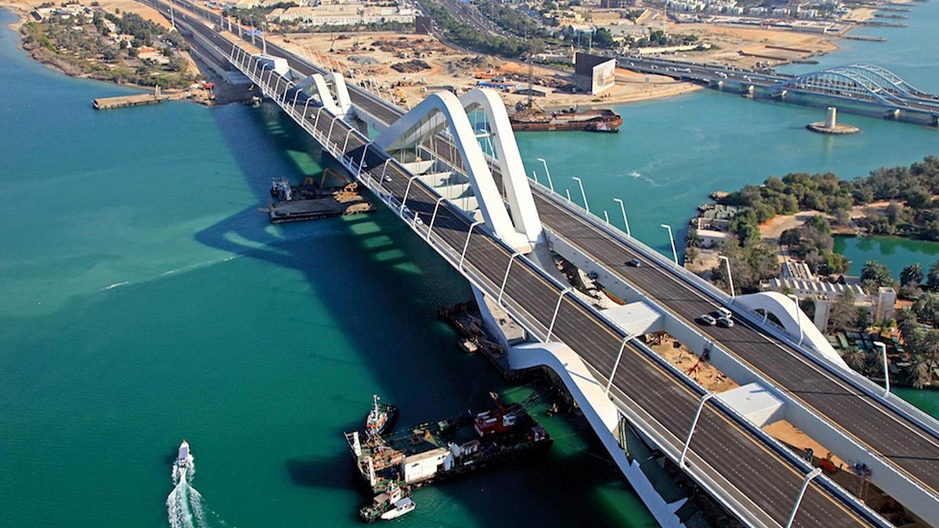 Мост Шейха Заеда сверху