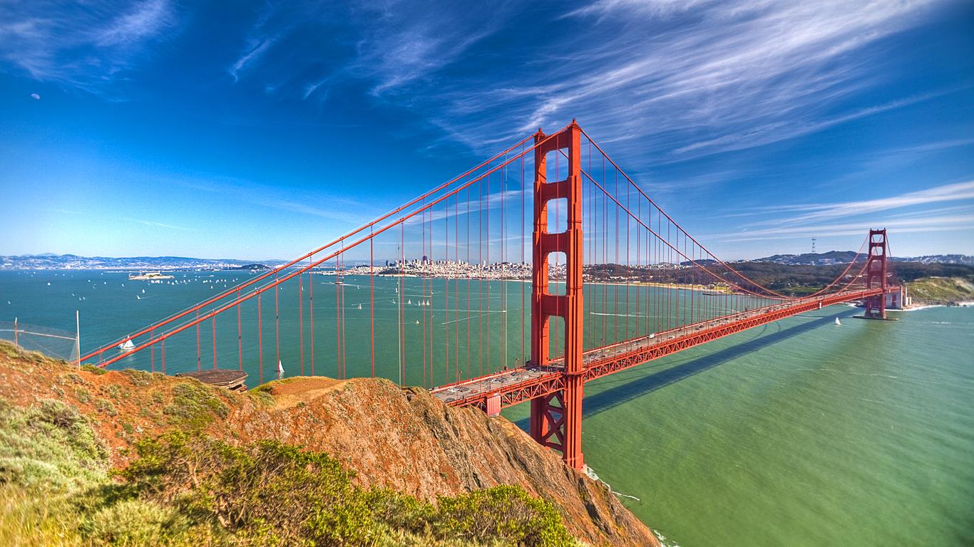 Мост Золотые Ворота днем