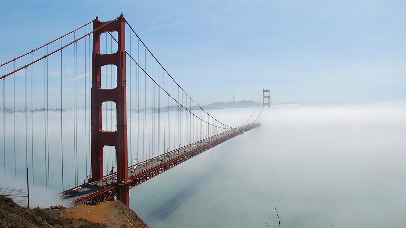 Туман над мостом Золотые Ворота