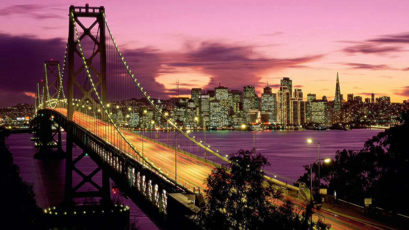 Мост из Сан-Франциско в Окленд