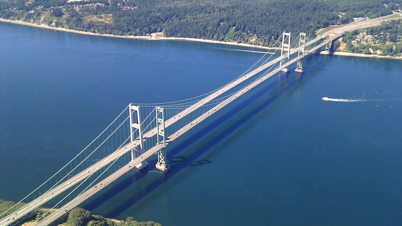 Такомский мост с высоты