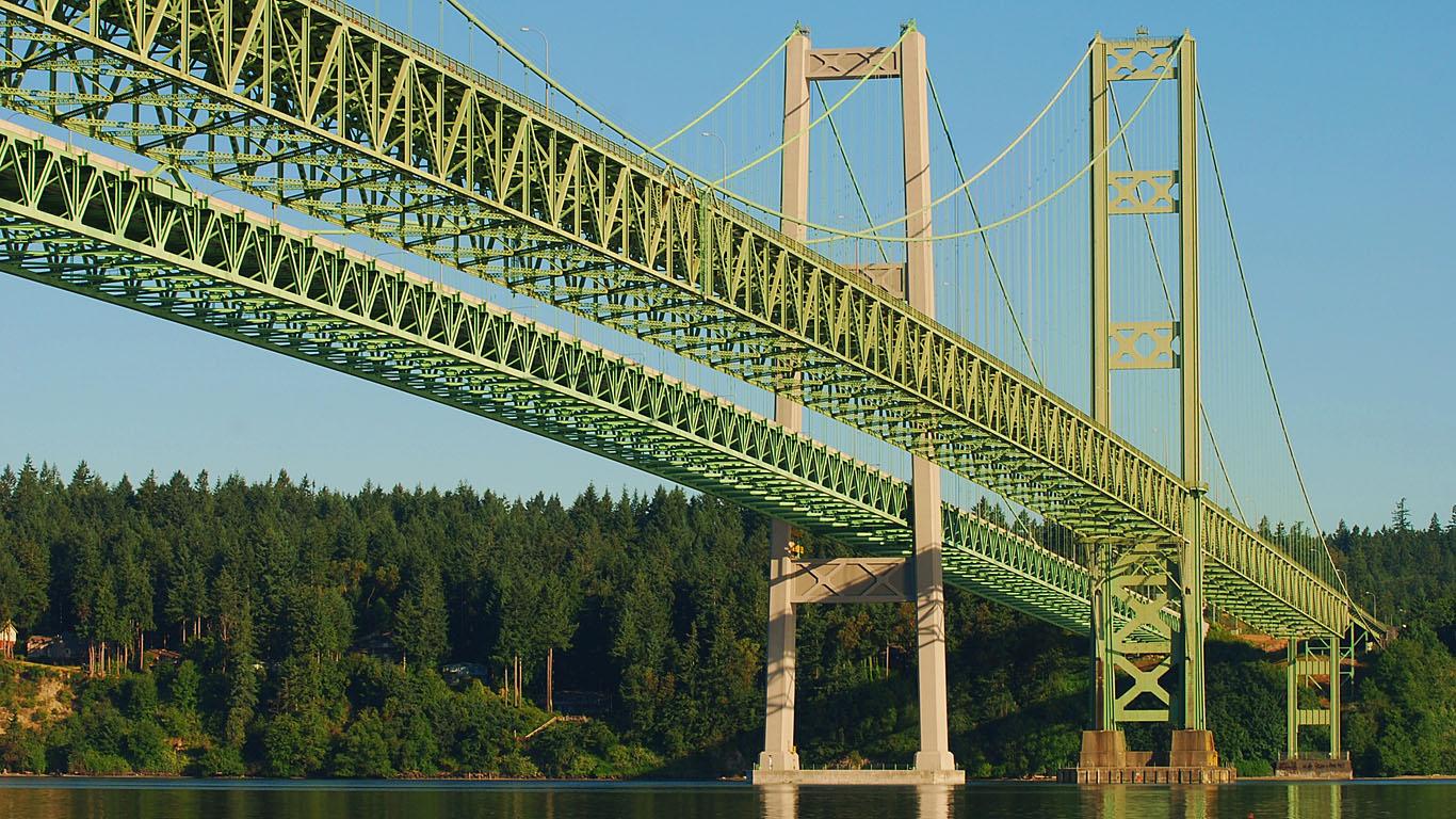 Такомский мост вблизи