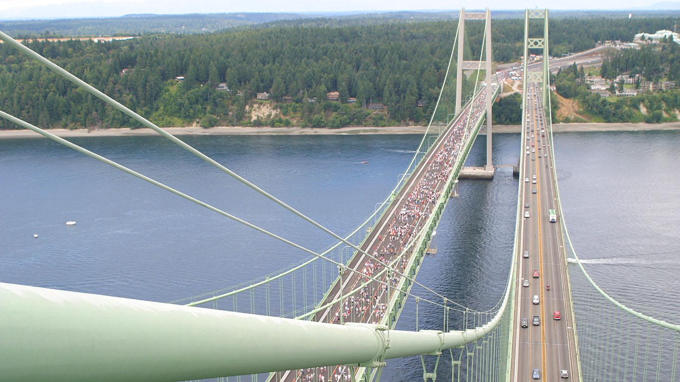 Такомский мост сверху