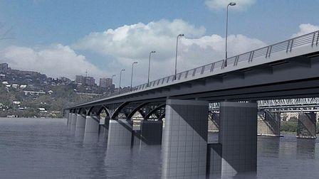 4 мост через Енисей в Красноярске